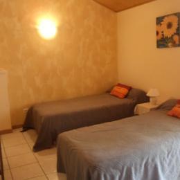 chambre : 2 lits 90 - Location de vacances - Avrillé