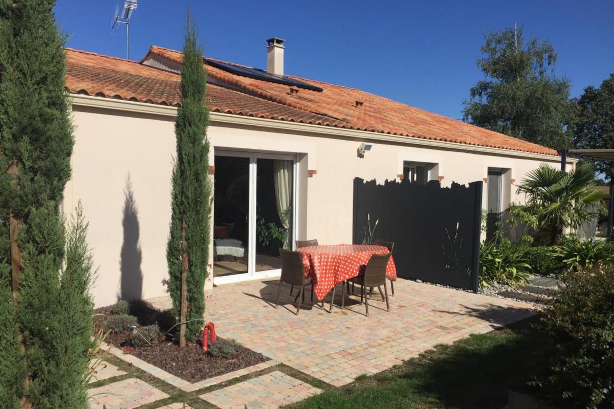 Terrasse privative - Location de vacances - Mouchamps