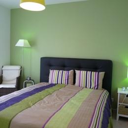 Chambre lit de 160 fait à votre arrivée  - Location de vacances - Olonne sur Mer