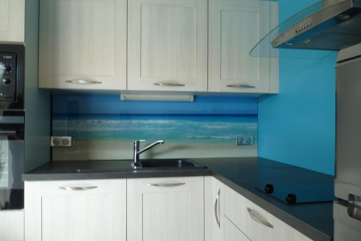 cuisine studio bleu - Location de vacances - Olonne sur Mer