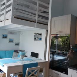 salon studio bleu - Location de vacances - Olonne sur Mer