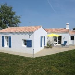 Façade Sud, côté jardin - Location de vacances - Noirmoutier en l'Île