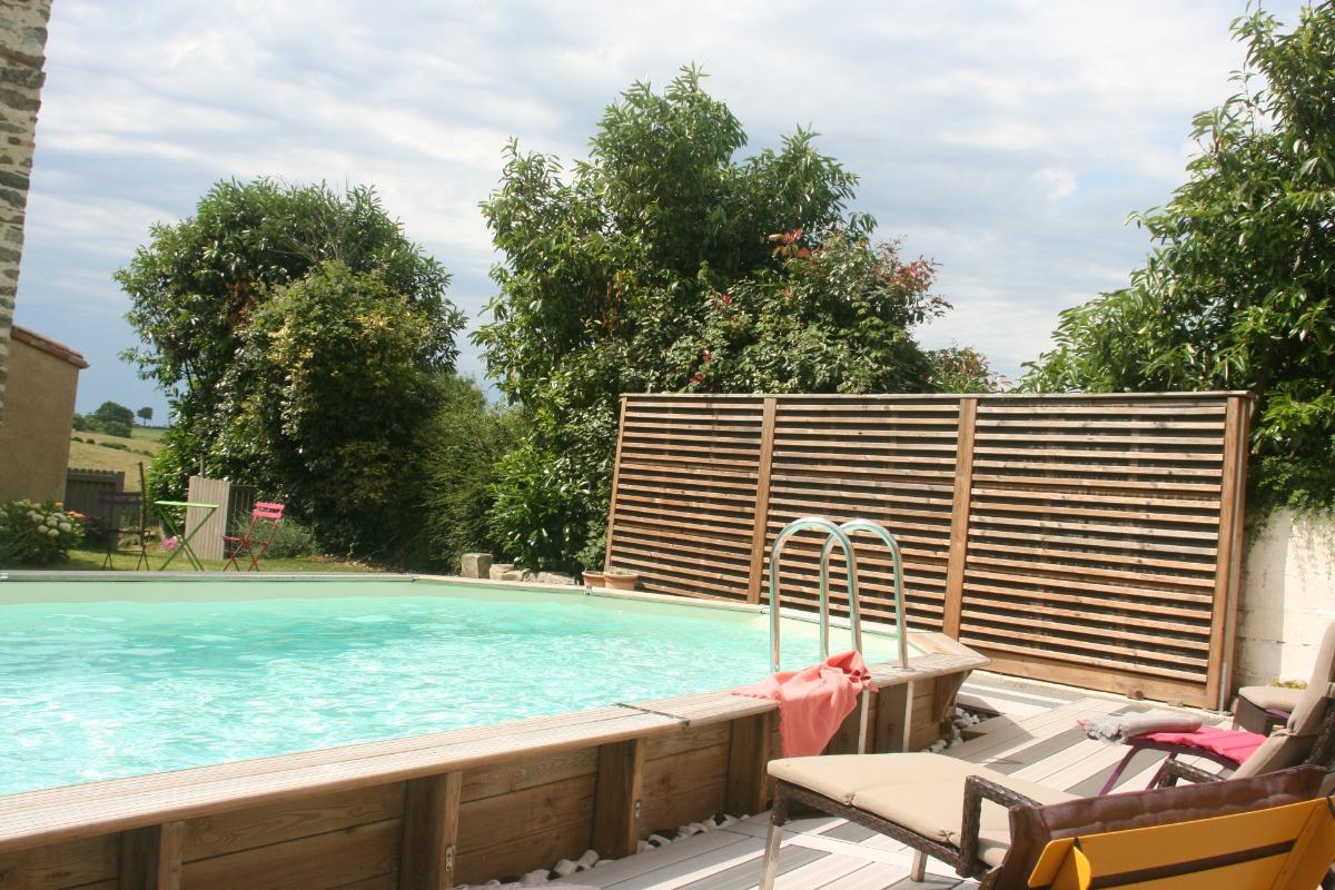 Piscine - Location de vacances - Château Guibert