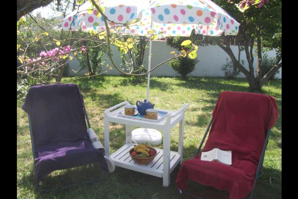 Jardin vers l'Ouest - Location de vacances - La Guérinière