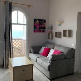 salon sur balcon vue mer - Location de vacances - La Tranche sur Mer