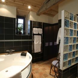 Balnéo/ jacuzzi 2 places privatif et douche hydromassante - Chambre d'hôtes - Moreilles