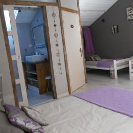 Chambre Violette 5 personnes - Chambre d'hôtes - Saint Mesmin