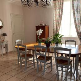 salle du petit dejeuner - Chambre d'hôtes - La Boissière des Landes