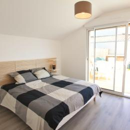 chambre lit double - Location de vacances - Talmont Saint Hilaire