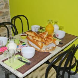 petit déjeuner - Chambre d'hôtes - Bazoges en Pareds