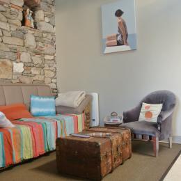 Coin séjour-salle à manger - Location de vacances - Les Sables d'Olonne