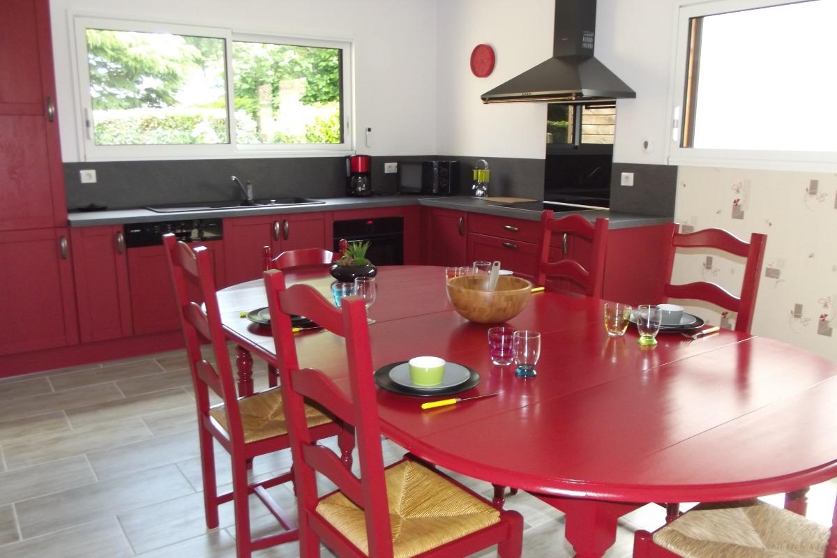 Séjour - coin cuisine - Location de vacances - Longeville sur Mer