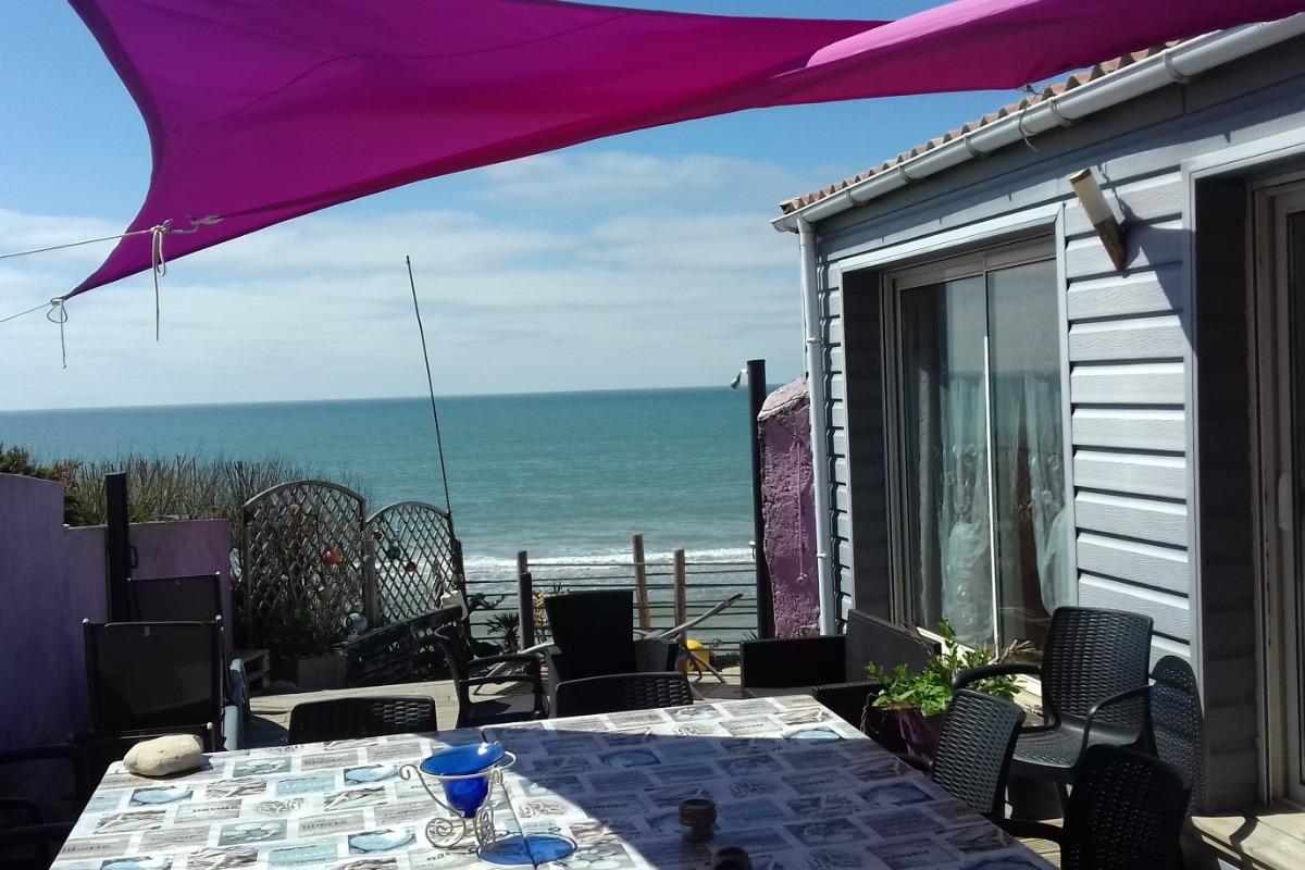 terrasse sur l'océan  - Location de vacances - Longeville sur Mer