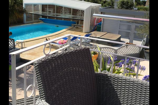 Villa Colombier Piscine Prive Couverte Chauffe Terrasse Vue Mer