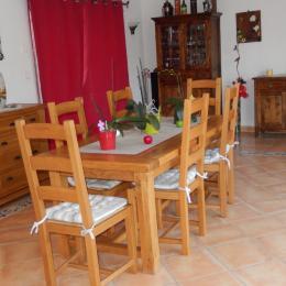 Petit déjeuner en extérieur - Chambre d'hôtes - Moreilles