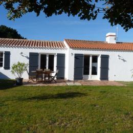 facade principale avec terrasse  - Location de vacances - Noirmoutier en l'Île