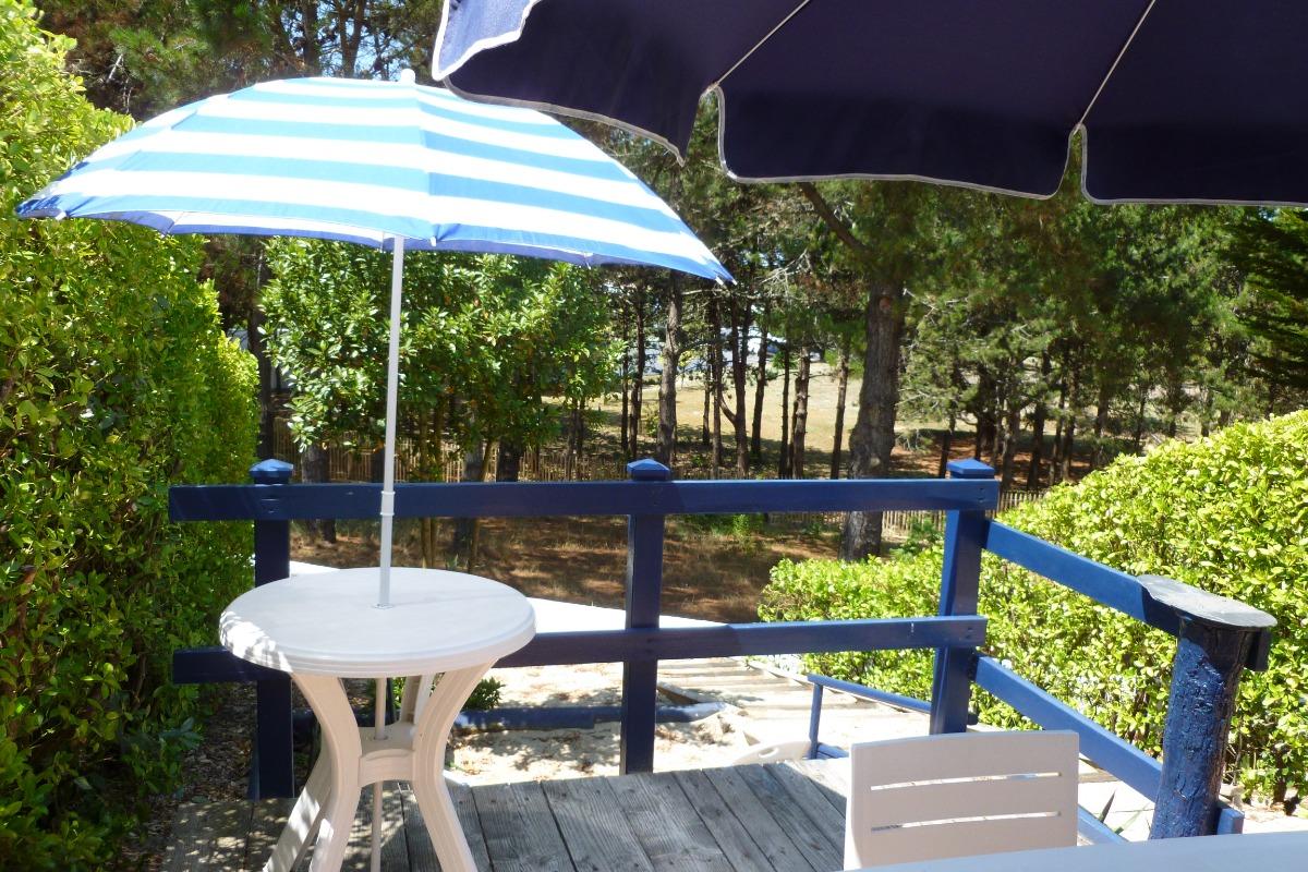 Terrasse arrière - Location de vacances - La Guérinière
