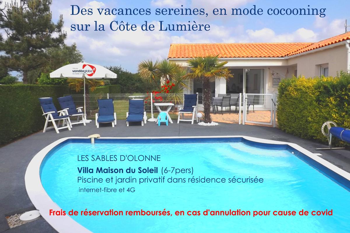 Complet pour saison été 2020 réservation pour 2021 : maisondusoleil151@yahoo.fr - Location de vacances - Château d'Olonne