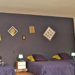 3 lits de 90 - Suite familiale - Chambre d'hôtes - Thiré
