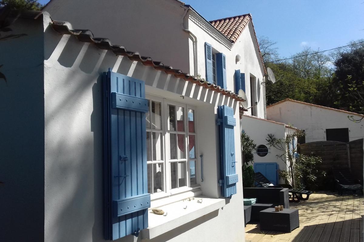 façade arrière - Location de vacances - Longeville sur Mer