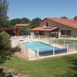 Beau terrain privé avec piscine et grand préau - Location de vacances - Saint Martin Lars en Sainte Hermine