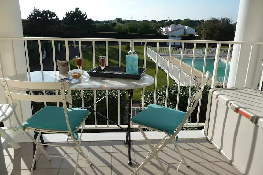 la vue du balcon depuis la pièce de vie - Location de vacances - Château d'Olonne