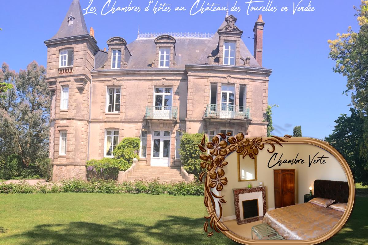 Chambre Verte Chateau Des Tourelles A Proximite Du Puy Du Fou En