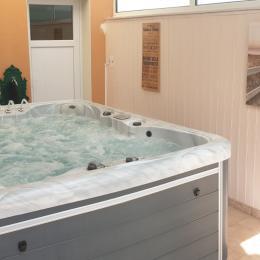 Grand salon séjour, ouvert sur la cuisine et sur le jardin clos avec terrasse et piscine. Grand espace assuré. - Location de vacances - Les Sables-d'Olonne