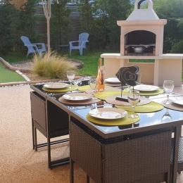 Terrasse, Barbecue, Store banne, Transat - Location de vacances - Les Sables-d'Olonne