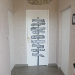 Couloir d'accès commun aux chambres Bocage et Littoral - Chambre d'hôtes - Les Sables-d'Olonne