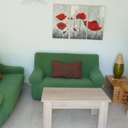 Le séjour avec un espace salon - Location de vacances - La Tranche sur Mer