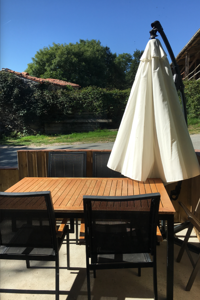 Terrasse - Location de vacances - La Tardière