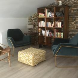 mezzanine salon dvd - Location de vacances - La Tardière