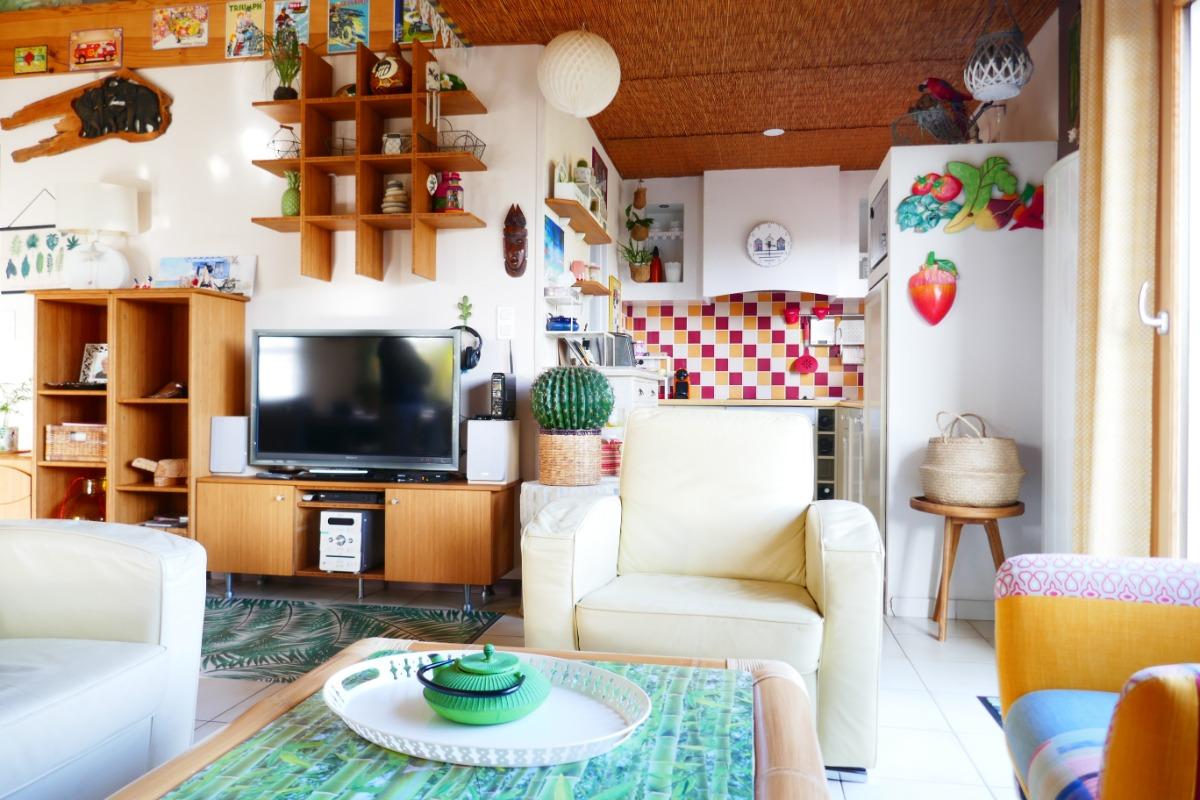 Salon - Cuisine - Location de vacances - Les Sables-d'Olonne