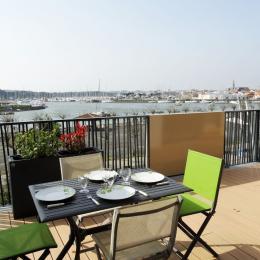 Balcon vue sur le port - Location de vacances - Saint Gilles Croix de Vie
