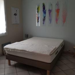 Chambre 1 avec un lit en 140 - Location de vacances - L'Aiguillon sur Mer