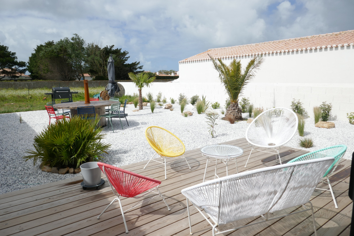 Jardin et terrasse - Location de vacances - Noirmoutier en l'Île