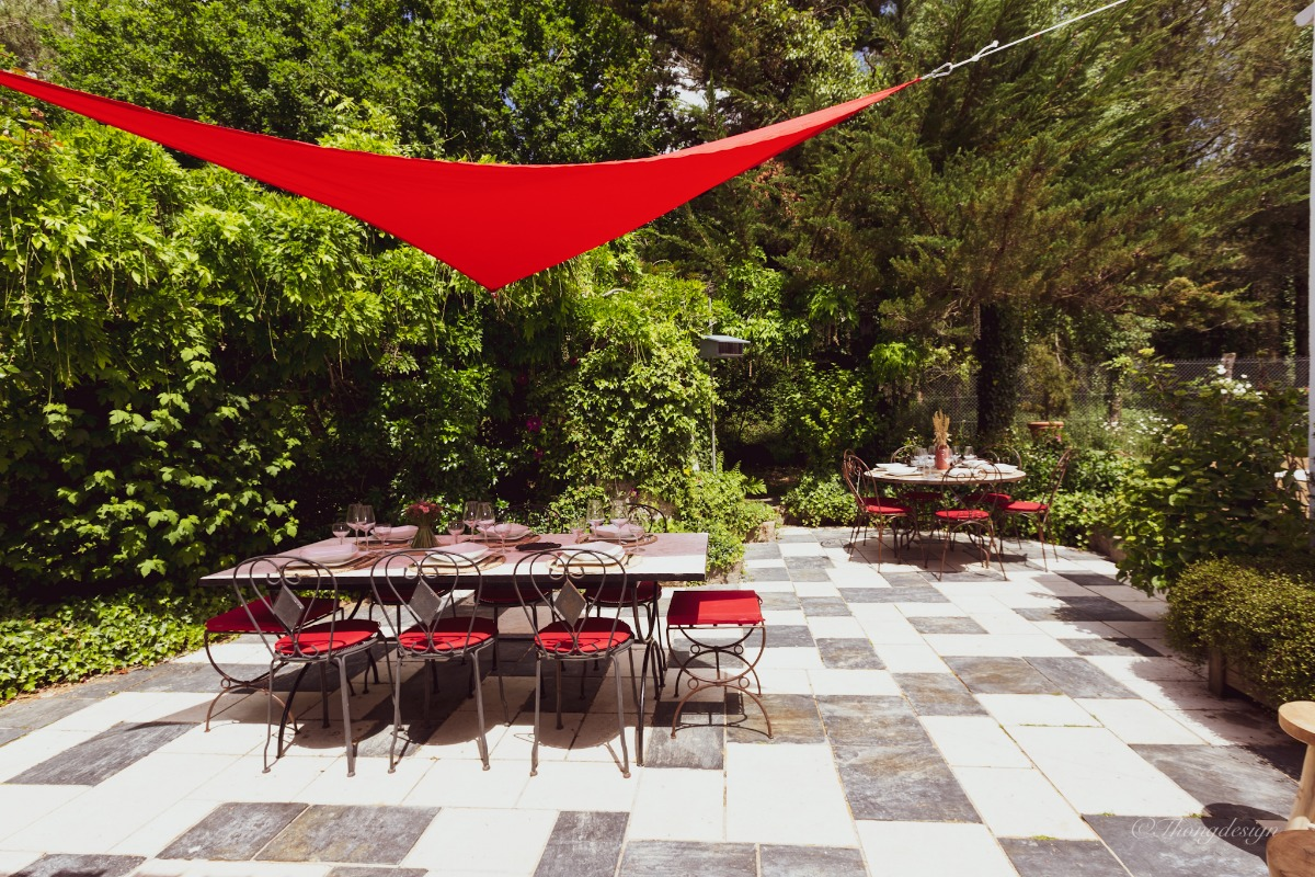 Grande terrasse avec salon de jardin - Location de vacances - Grand'Landes