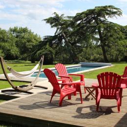 Terrasse et piscine - Location de vacances - Poiroux