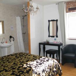 Douche & lavabo dans la chambre (wc privée a coté) - Chambre d'hôtes - Rochechouart