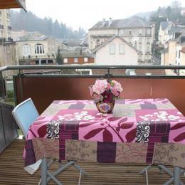 Terrasse couverte avec vue sur Plombières - Location de vacances - Plombières-les-Bains