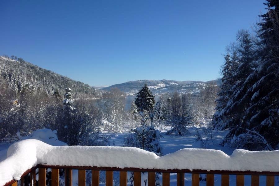 Paysage d'hiver depuis le Chalet de Blandine à Gérardmer - Chambre d'hôtes - Gérardmer