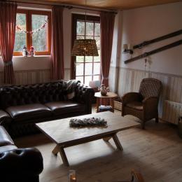 salon/sejour avec poele a bois, Bellevue, Vosges - Chambre d'hôtes - Ban-sur-Meurthe-Clefcy