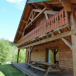Chalet et la charpente - Chalet Heïdi Ventron Vosges - Location de vacances - Ventron