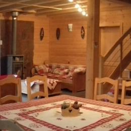 Pièce de vie - Chalet Heïdi Ventron Vosges - Location de vacances - Ventron