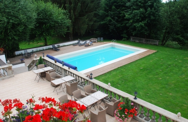 Piscine extérieure - Villa Mon Coeur - Chambre d'hôtes - Remiremont