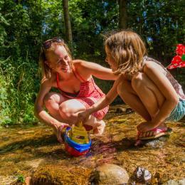 Ruisseau camping au clos de la chaume camping vosges - Location de vacances - Corcieux