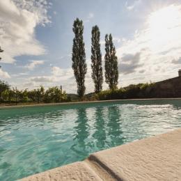 Piscine dominant la Manufacture Royale de Bains - Location de vacances - Bains-les-Bains