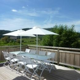 Terrasse plein sud - Location de vacances - Gérardmer