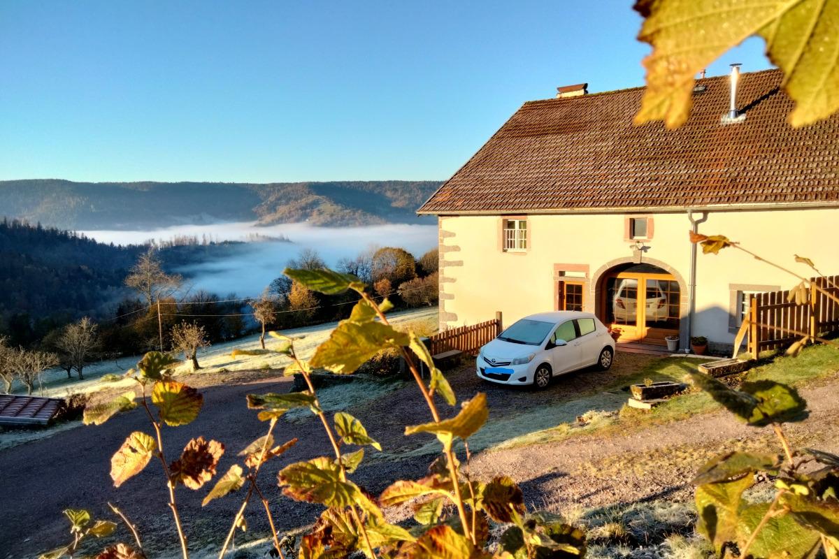Le Grenier du Roc dans son habit hivernal - Location de vacances - Basse-sur-le-Rupt